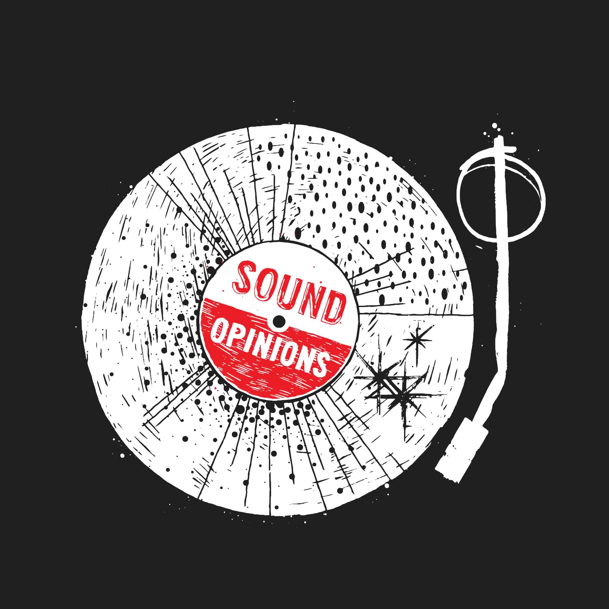 Record Design Sticker