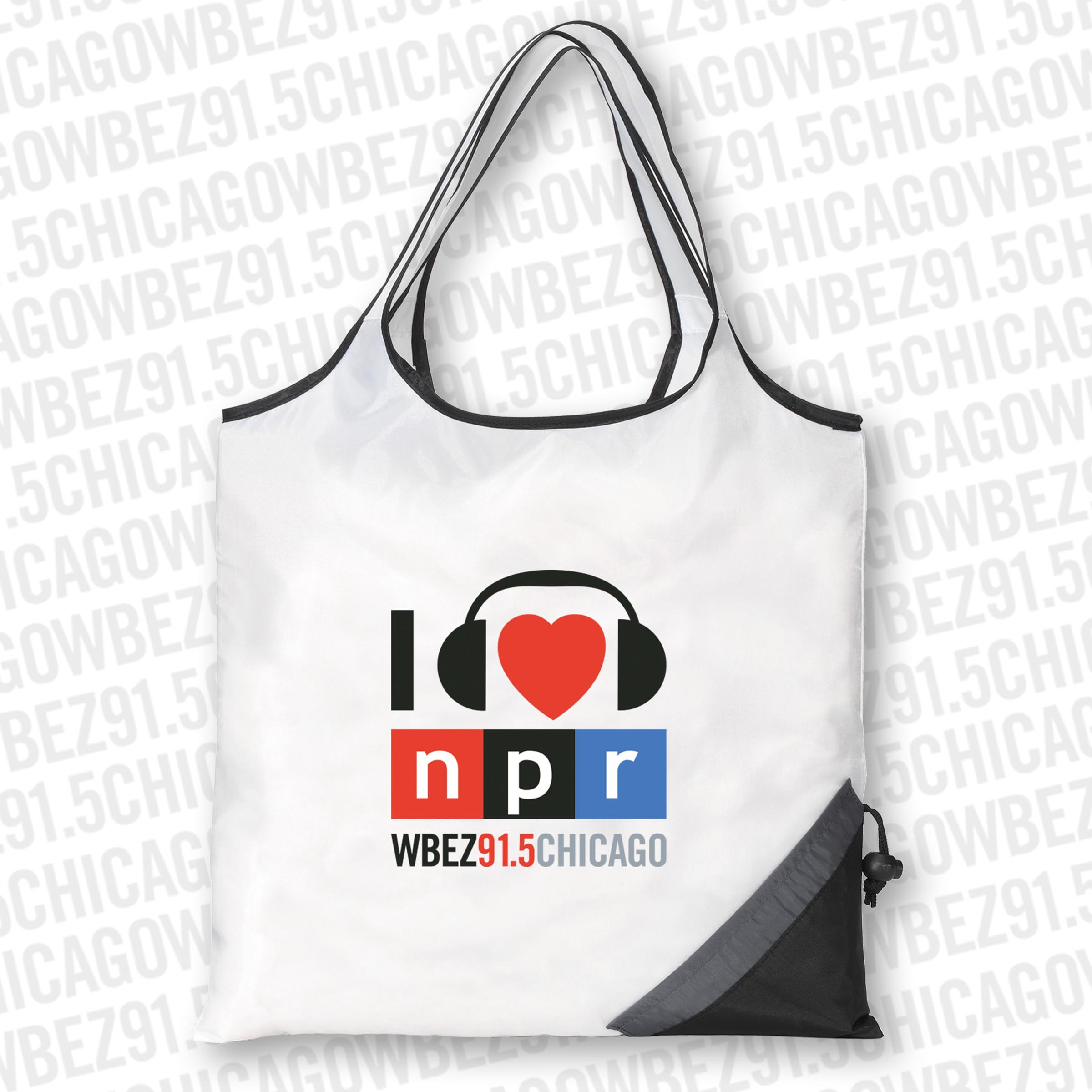 I Heart NPR Foldable Bag