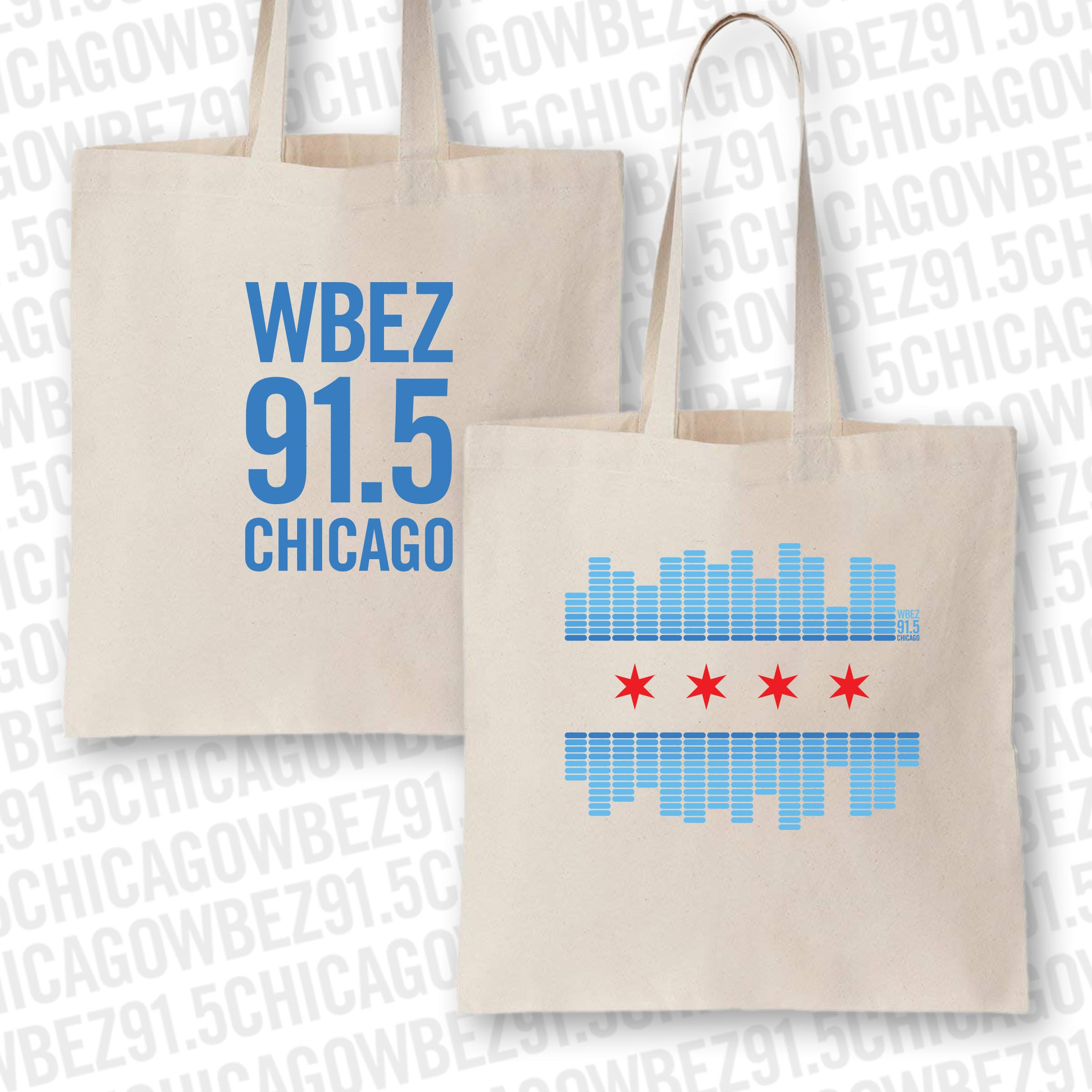 WBEZ 2019 Chicago Flag Tote