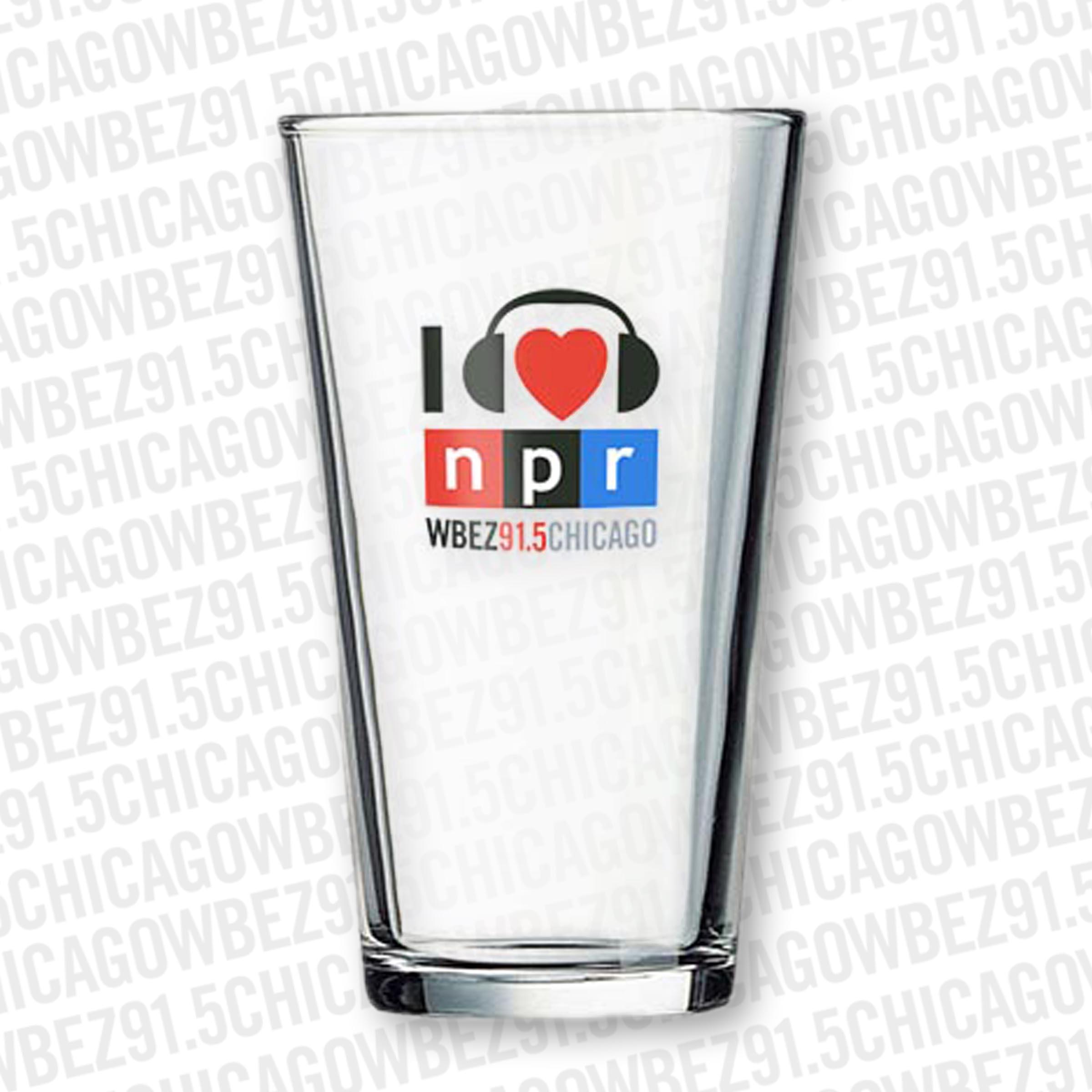 I Heart NPR Pint Glass