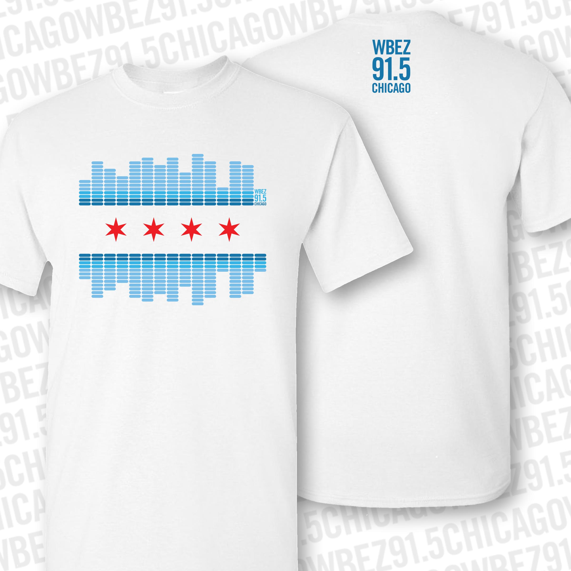 WBEZ 2019 Chicago Flag Shirt