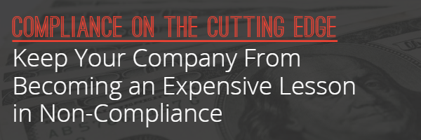 Keep Your Company From Becoming an Expensive Lesson in Non-Compliance