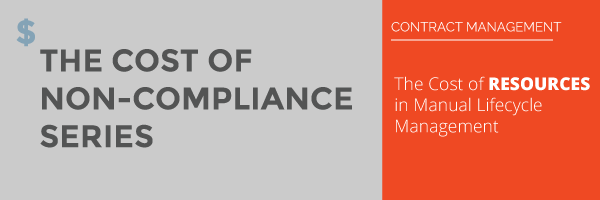Contract Management - The Cost of Non-Compliance Series: The Cost of Resources for Manual Lifecycle Management