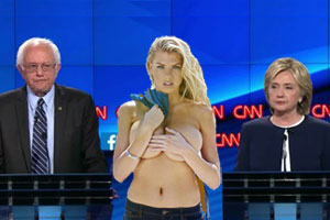 Charlotte McKinney won the Democratic Debate