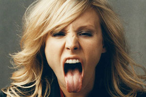 Kristen Bell is Aggressive!