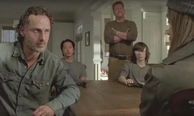 The Walking Dead: Knots Untie; see also: Rick introduces himself covered in blood again