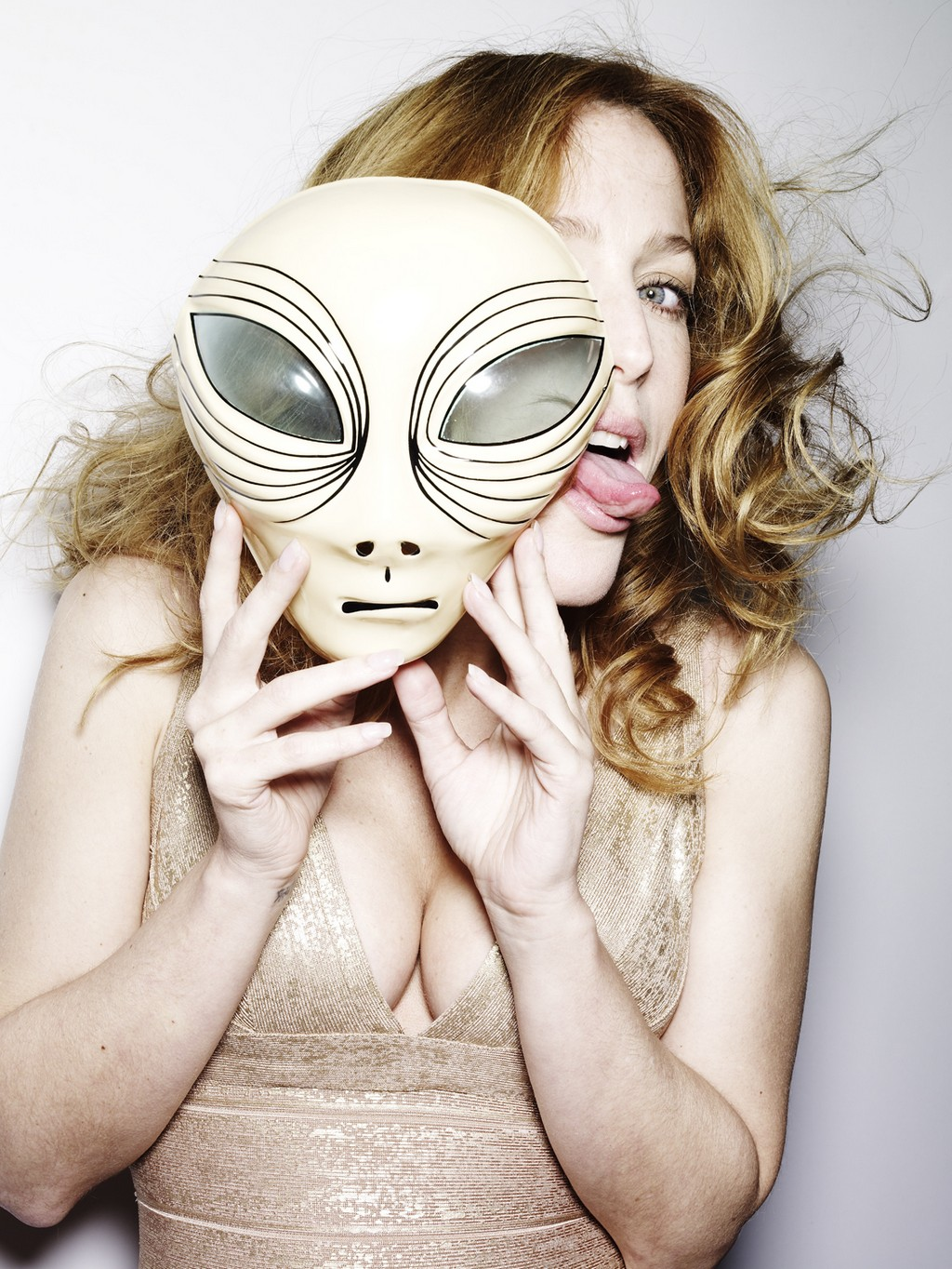 Gillian Anderson Tongue