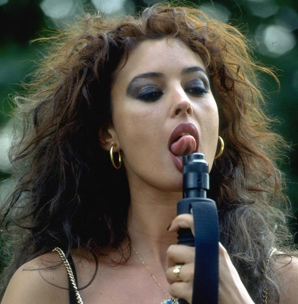 Monica Bellucci Tongue