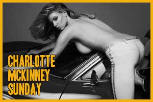 Charlotte McKinney Sunday – Car Stuff