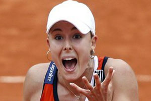 Alize Cornet Tongue
