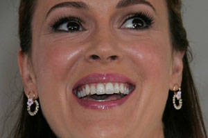 Alyssa Milano Tongue