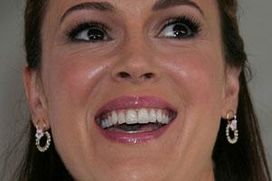 Alyssa Milano Tongue
