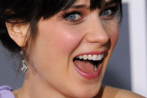 Zooey Deschanel Tongue