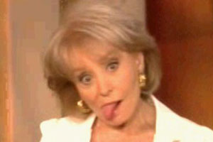 Barbara Walters Tongue