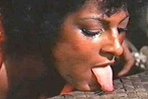 Pam Grier Tongue