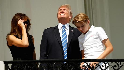 Trump Stared Directly at the Sun