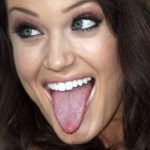 Lacey Schwimmer Tongue