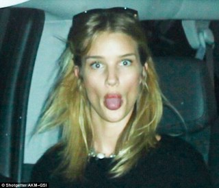 Rosie Huntington Whiteley Tongue