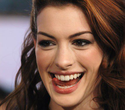 Anne Hathaway Tongue
