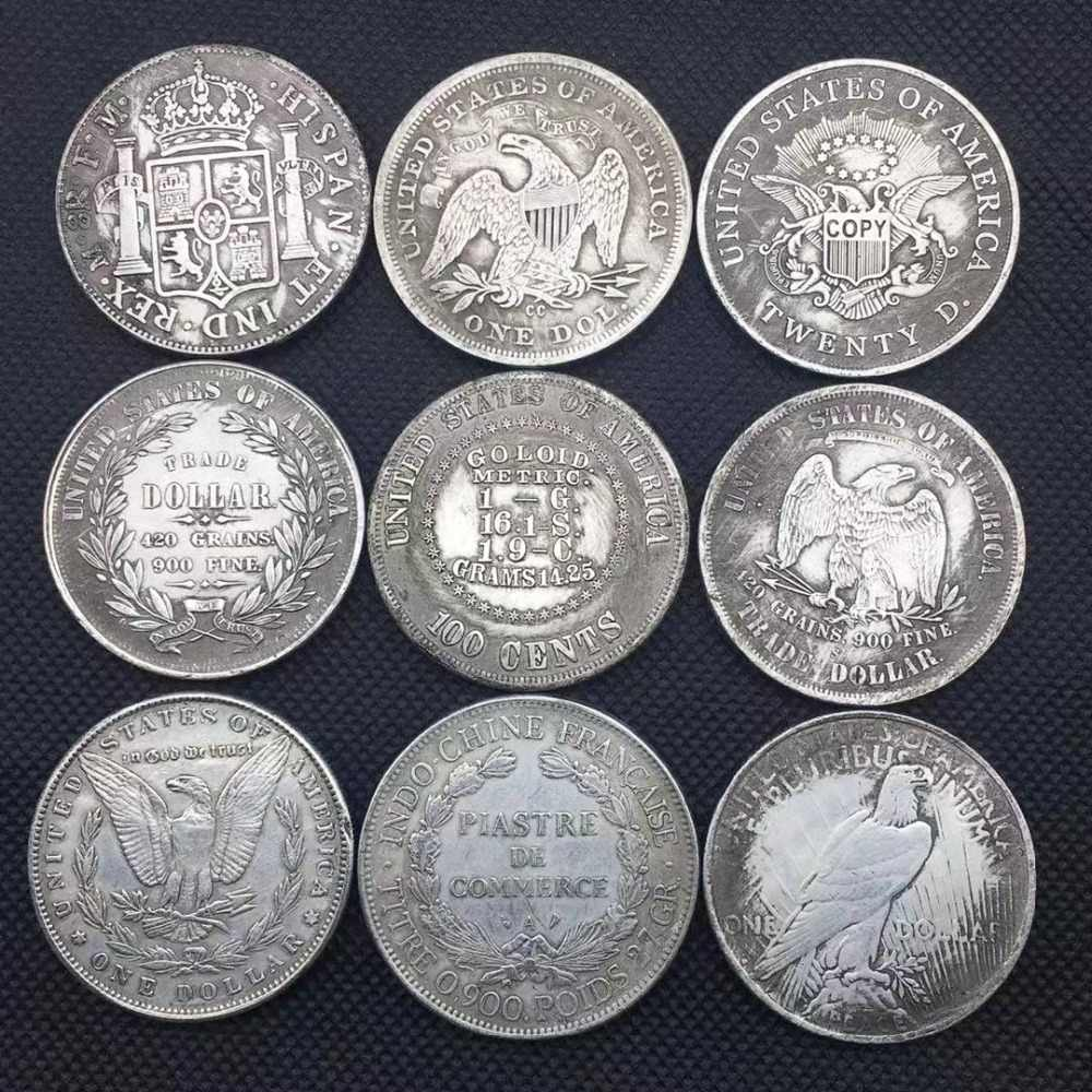 Coleção de moedas de prata