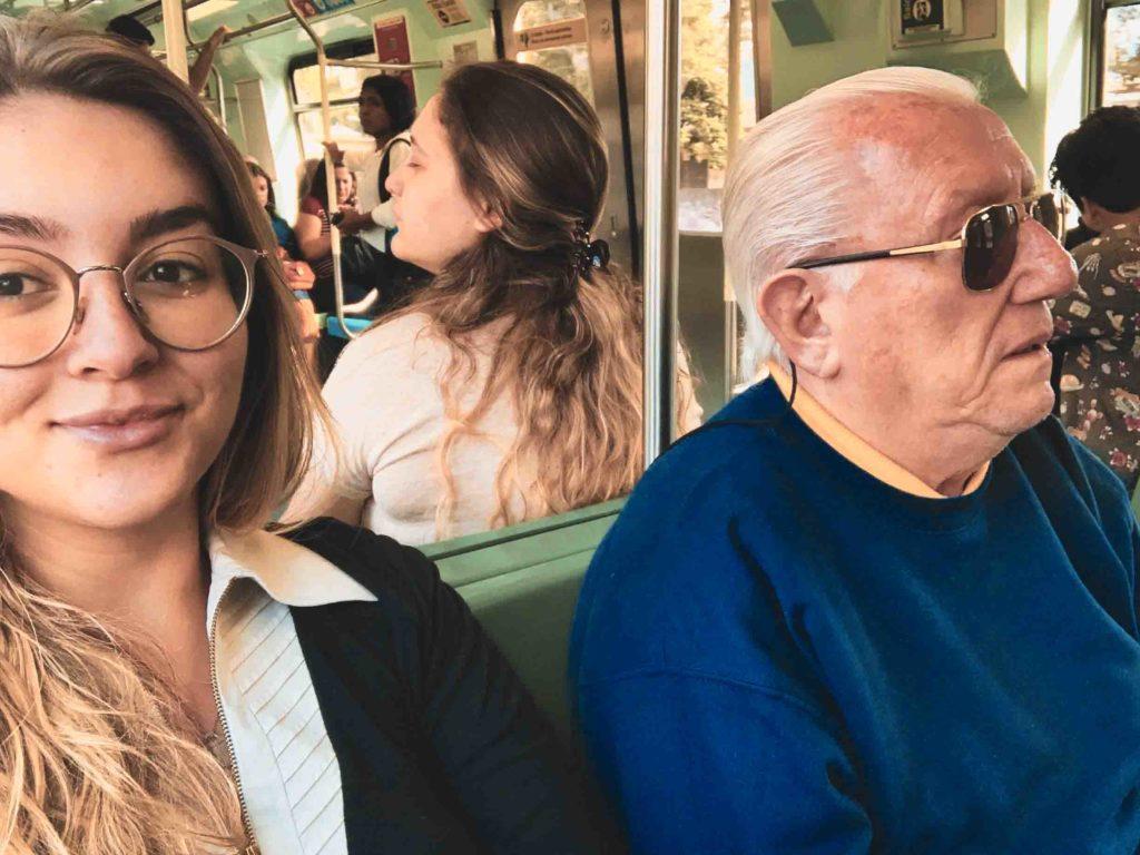luiz barsi e sua filha no metro