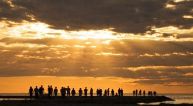 people watching sunset - inspire