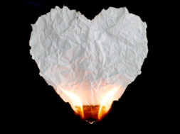 heart on fire signifying desire to change