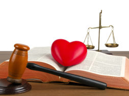 mercy or justice - Bible, heart, gavel