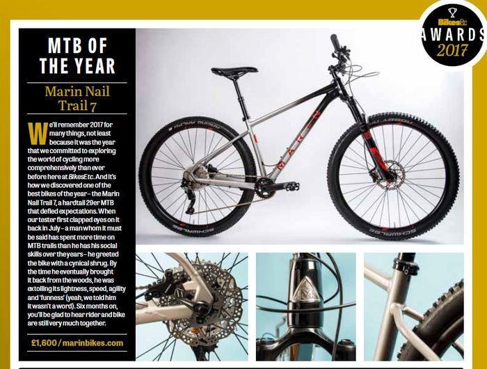 Nail Trail 7- Bikes ETC, MTB of the Year! | Marin Bikes