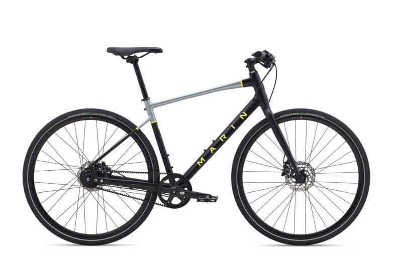 marin belt drive hybrid bike with disc brakes