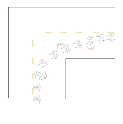 Two Abreast Cornering Drill Diagram