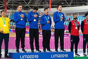 2019 Pan-American Games Men's Team Pursuit Podium