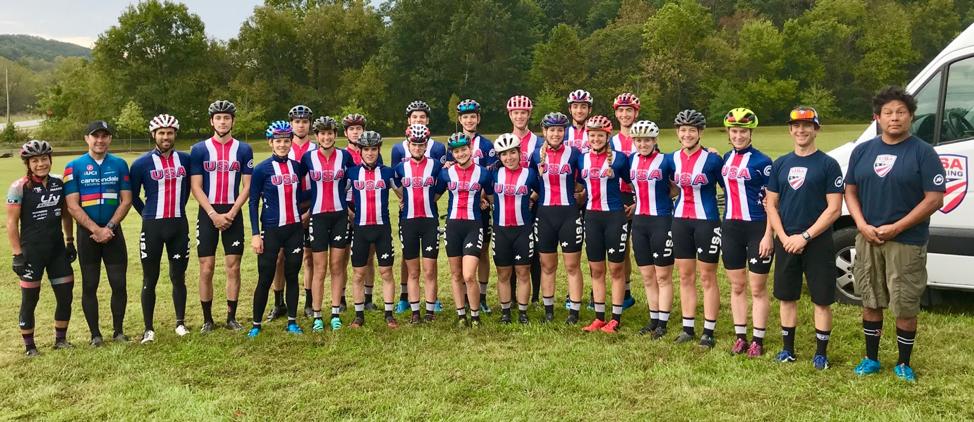 Team USA group shot at Development Camp in Bentonville, AR