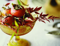 Thanksgiving Centerpieces made from Autumn Foliage, Candles and Wreaths