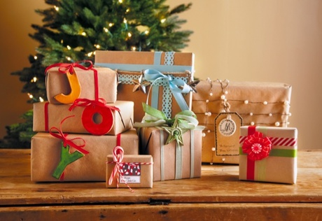 Holiday Gift Wrapping Ideas Brown Paper Packages Craftfoxes