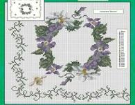 Cross stitch tablecloths, table runners and tablenapkins