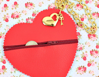 No Sew Heart Coin Purse