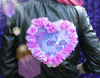 Pastel Goth Leather Jacket