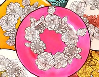 Adult Coloring Book Dishes