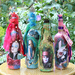 Alice Through the Looking Glass Mixed Media Bottles
