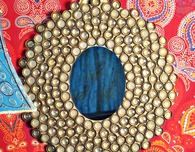 Bottle Cap Boho Mirror