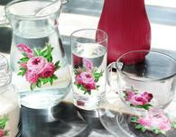 Vintage Floral Glassware DIY