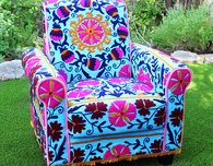 No Sew Upholstered Boho Chair