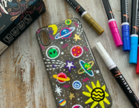 Phone case painting ideas