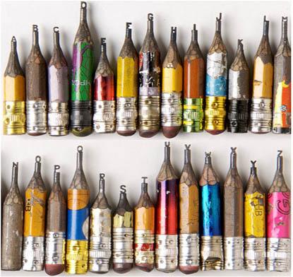 pencil scultpure
