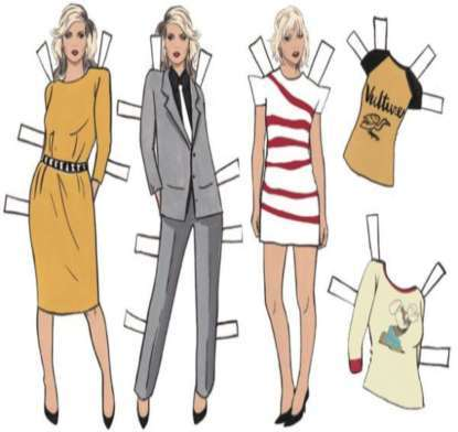 debbie harry paper dolls