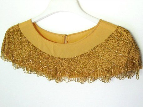 vintage beaded collar shawl