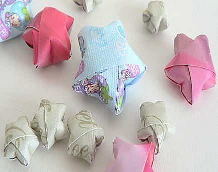 upcycled calendar origami star