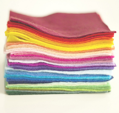 stack of rainbow felt