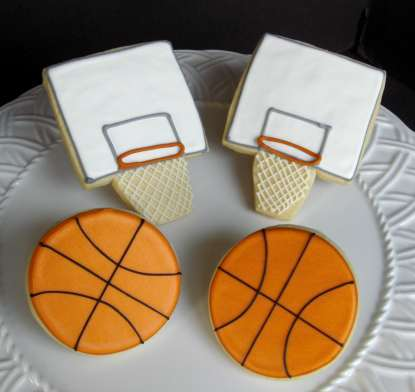 diy march madness basketball cookies